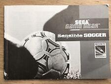 Sega Game Gear Game Sensible Soccer Original Manual / Instruction Book Original
