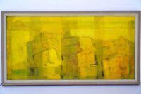 JASON SCHOENER Signed Original Abstract Art 1960's Oil Painting