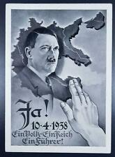 """GERMANY Annexion of AUSTRIA 1938 HITLER Propagda Pic PPC """"The Anschluss"""" LOOK"""