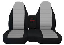 Car Seat Covers Blk/Silver Fits 98-03 Ford Ranger 60/40 High Back Seats
