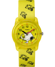 Peanuts Watch Snoopy Woodstock Timex Kids Yellow Band with Woodstocks