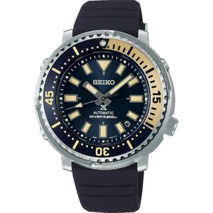 """New Seiko Prospex """" Tuna Safari """" Blue Dial Rubber Band Men's Watch SRPF81"""