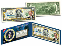 GEORGE W BUSH * 43rd U.S. President * Colorized $2 Bill US Genuine Legal Tender