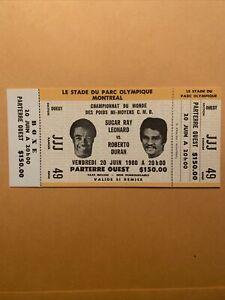 Sugar Ray Leonard vs Roberto Duran I,  Montreal 1980 Full Boxing Ticket;A Beauty