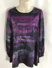 Simply Vera Wang Purple scoop Neck womens blouse Shirt Top Size 2 FREE SHIPPING
