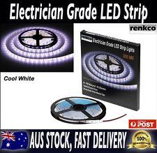 Electrician Grade 2835 SMD Cool White LED Strip Lights IP65 Waterproof 12V DC