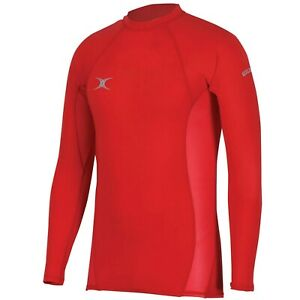 Gilbert Men's Atomic Thermal Baselayer Top XXL Red. Rugby Football Gym