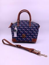 Dooney & Bourke NFL New England Patriots Logo Charli Satchel Crossbody Handbag