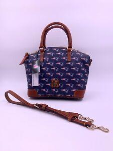 Dooney & Bourke NFL New England Patriots Logo Charli Satchel Crossbody Handbag