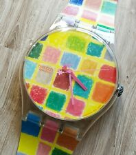 "Maxi Swatch MGK280 "" Agatic Agatac "" 1997 Rare Collectable Wall Clock Pop Art"