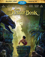 The Jungle Book (Blu-ray + DVD + Digital HD, 2016) New With Slipcover...
