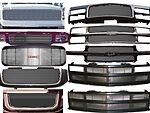 BIL-GMC-34  Grille 2004-2006 GMC Sierra 1500 Gmc04-Xx Hd Only New Body