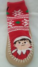 "NWT ""The Elf on the Shelf"" Red Slipper Socks Size 2T-3T (Shoe Size 5-7.5)"