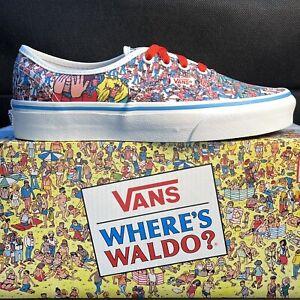 Vans x Where's Waldo? ( Land Of Waldos ) Authentic Shoes Women's Size 6.5