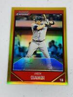 🔥 Jason Giambi • 2007 Bowman Chrome Gold Refractor • #52 Yankees • 33/50