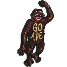 GO APE PATCH EMBROIDERED SEW ON / IRON ON PATCH BY RETRO-A-GO-GO