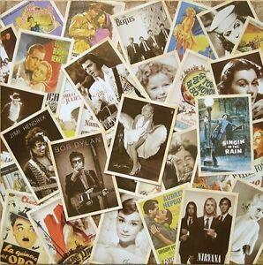 Hollywood Movie Poster Actress Legendary Musician Postcard Set 32 PCS Cards LOT