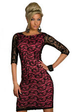 Siren Paisley Floral Lace Midi Dress Black Red