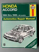 Haynes Honda Accord repair manual #1221 1984-89 85 86 87 88