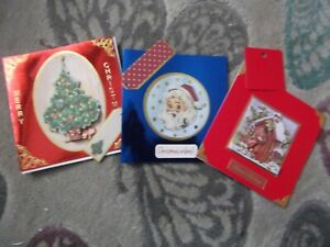 3 HANDMADE CHRISTMAS CARDS WITH GIFT TAGS ( F )