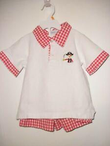 Cukees Toddler Boys Two Piece Set Shorts & Shirt Pirate Motif 4T