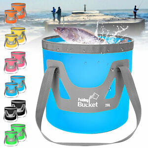 12L/20L Folding Water Bucket Collapsible Outdoor Fishing Camping Container Bag