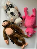 3 Pieces Flying Flingshot Slingshot Monkey Cow Pig Plush Toys Howler Screaming
