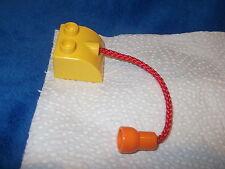 LEGO DUPLO 1 x AFFENSCHAUKEL STEIN MIT SEIL SCHAUKEL für Affen ZOO ZIRKUS 4419