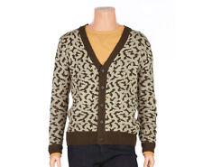 Jack & Jill Mens Casual Leopard Pattern Printed V-neck Cardigan Slim Size L NWT