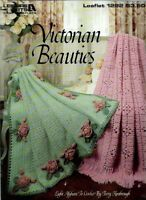 VICTORIAN BEAUTIES 1990 Leaflet 8 Afghans Patterns to Crochet Leisure Arts 1292