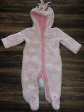 Disney baby girls pink warm romper with hoodie size 0-3 months w/Minnie Mouse