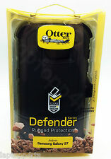 Genuine Otterbox Defender Antiurto Case Cover per Samsung Galaxy S7 NERO NUOVO