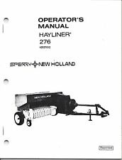New Holland 276 Square Baler Operator Manual