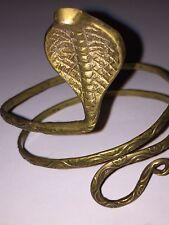 Upper Arm Cuff Bangle Bracelet Gold Bronze Snake Greek Bohemian Festival Tribal