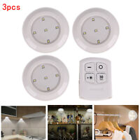 3Pcs Wireless Remote Control Battery Operated Under Cabinet Kitchen LED Lights