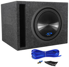 "Alpine Type-S SWS-12D4 12"" 1500 Watt Car Stereo Subwoofer + Vented Sub Enclosure"