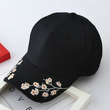 Baseball Cap Ladies Snapback Cap Hat Women Embroidered Cherry blossoms HatW&T