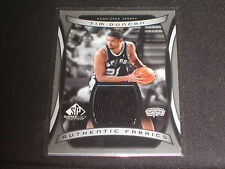 TIM DUNCAN SPURS STAR LEGEND CERTIFIED AUTHENTIC GAME USED NBA JERSEY CARD