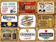 retro réplica de estilo vintage regalo signo de Metal Lata Pub Bar San Miguel pin up
