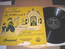 THE KING AND I GERTRUDE LAWRENCE YUL BRYNNER MUSICAL PLAY UK BRUNSWICK LAT 8026