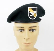 US Army Special Forces Green Beret Hat Cap Wool Size XL & Colonel Rank