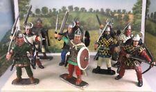 10 Beautiful Vikings Infantry Beautiful Hand Painted Figures 1/32 54-60MM