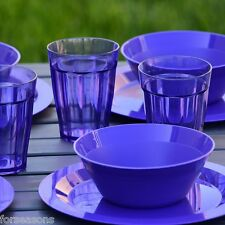 Discount Dinnerware Sets Service For 4 Bowl Tumbler 12 Pieces Outdoor Dishes NEW