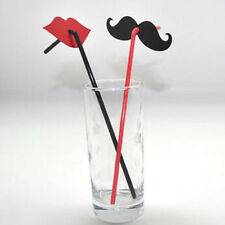 20pcs Creative Mustache & Lips Straw For Wedding Party Deco Props & Drinks
