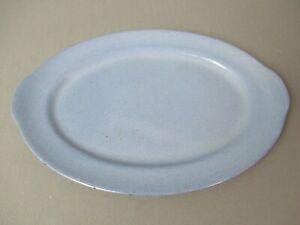 Vintage Prizer Ware Oval Turquoise Enameled Cast Iron Steak Platter - SP-2 g sb