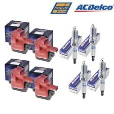 Set Of 4 B031HE Herko Coils & 4 AcDelco 41-962 Spark Plugs