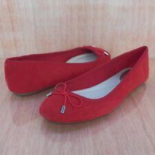 Alfani Women's Ballet Flats Size 7.5 Aleaa Red Sued Shoes