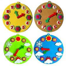 Educational Clock Felt Gifts For Kids Nusery School Baby Colorful Design ON3