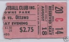 Vintage 1959 Ottawa Rough Riders (Russ Jackson 2nd year) Ticket vs. Argonauts