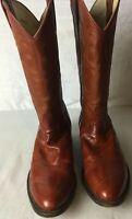 Los Altos Boots Western Genuine Eel Skin 9 D Rust Color 1954 8 70657 1 65 0803